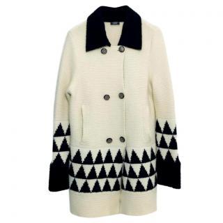 Chanel Paris Moscow Cashmere Knit Coat