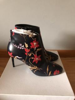 Balenciaga Floral Print Ankle Boots