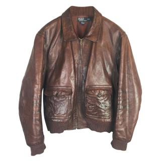 Polo Ralph Lauren Leather Aviator Jacket