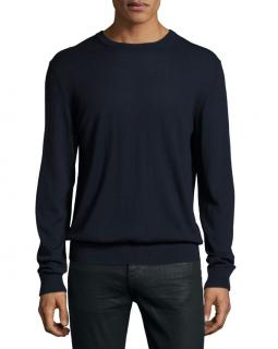 Burberry Richmond Check-Patch Cashmere-Blend Sweater, Navy