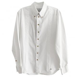Vivienne Westwood Vintage White Shirt with Trompe l'oeil Braces