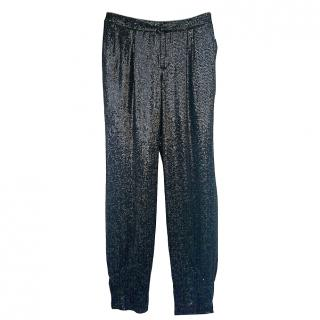 Erin Fetherston Blogger pick Sequin Couture Joggers pants size 8 NEW
