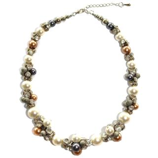 Bespoke Crystal & Faux Pearl Necklace