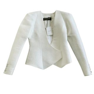 Balmain white matelasse blazer