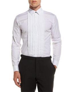 Burberry Men's Eve Pleated-Bib Tuxedo Shirt