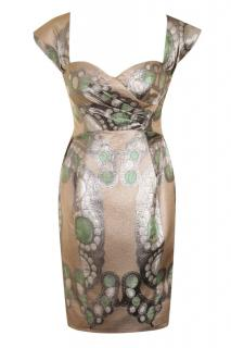 Matthew Williamson metallic brocade dress
