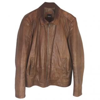 Hugo Boss Garrin Leather Blouson Jacket