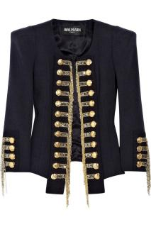 Balmain chain-tassel military blazer