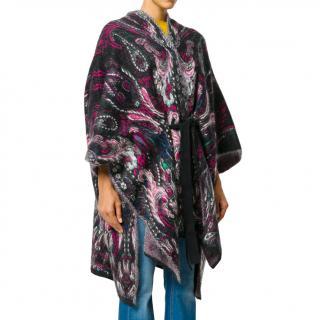 Roberto Cavalli intarsia-knit poncho