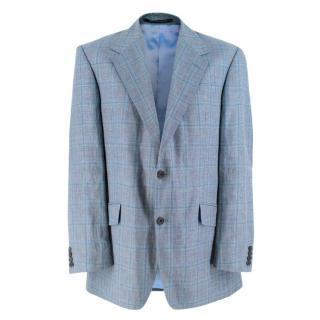 Richard James Blue Checkered Blazer