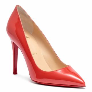 Christian Louboutin Pigalle 100 red patent leather pumps