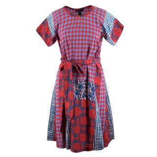 Marc by Marc Jacobs Multi-Print Belted Dress