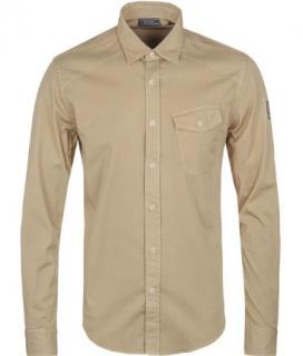 Belstaff Men's Ash Mustard Yellow Steadway Shirt