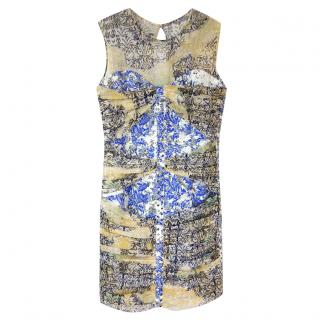 Just Cavalli Printed Fitted Mini Dress
