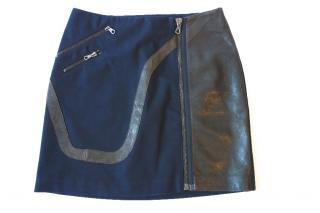 Rag & Bone Mini Skirt with Leather Inserts
