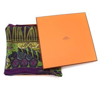 Hermes Sur un Tapis Volant Cashmere & Silk-Blend Scarf