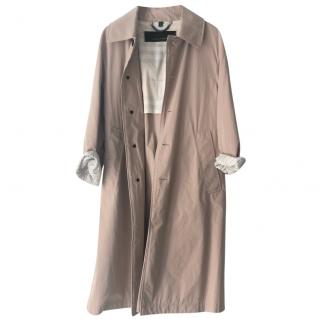 Burberry dusty pink oversized car coat