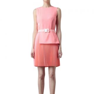 Christopher Kane pleated crepe wool dress