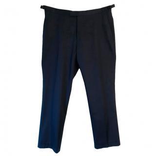 Paul Costelloe navy blue cotton slim fit chinos