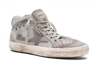 Golden Goose Mid Star suede-trimmed trainers