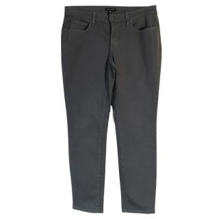 Eileen Fisher organic cotton stretch straight leg grey jeans