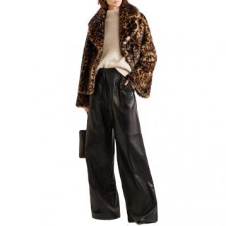Nili Lotan Sedella Leopard Faux Fur Jacket - Current Season