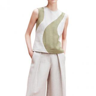 Alexander Lewis Toleda Panelled Linen Sleeveless Top