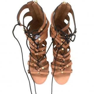 Jimmy Choo lace-up caged leather sandals