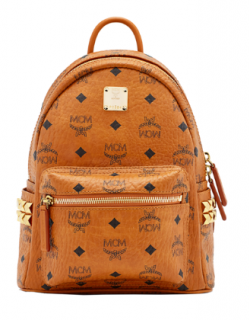 MCM Stark Side Studs Leather Backpack