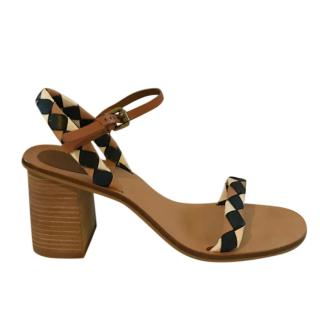 See by Chloe woven-leather block-heel sandals