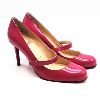 Christian Louboutin Pink Charleen Mary Jane Pumps