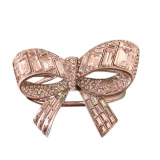 Chanel vintage crystal-encrusted bow cuff