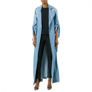 Balmain denim trench coat