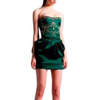 Zuhair Murad embellished strapless satin dress