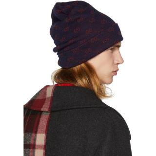 Gucci GG-jacquard alpaca-wool beanie hat