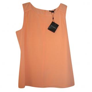 St John sleeveless silk top
