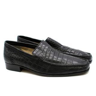 Stefano Ricci Black Crocodile Leather Loafers
