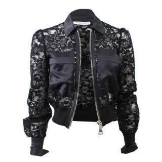 Givenchy lace-panel cropped jacket