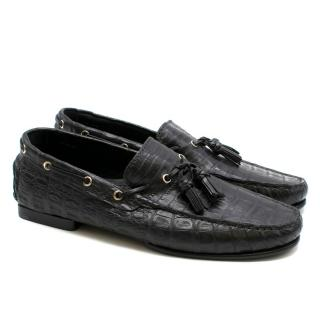 Tom Ford Crocodile Leather Loafers