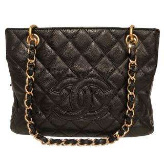 Chanel Petite Timeless Quilted Caviar-Leather Tote