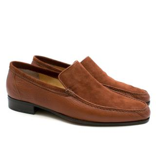 Stefano Ricci Brown Leather and Suede Loafers