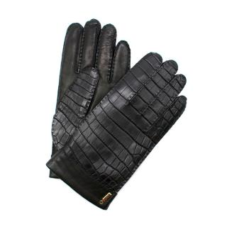 Zilli Fur-lined Crocodile Leather Gloves