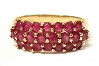 Bespoke Ruby Cluster Ring 1.10ct 14ct Gold