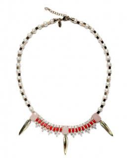 Lossellini Pearl & Rose Quartz Necklace
