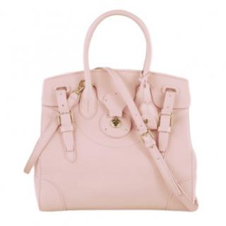 Polo Ralph Lauren Soft Ricky Rose leather bag