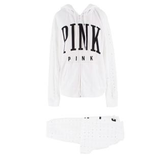 Victoria Secret White Sweater and Trackpants Set