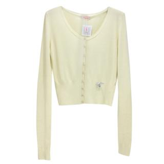Blumarine Lemon Yellow Cardigan