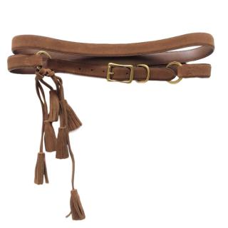Ralph Lauren tassel-trimmed double-wrap belt