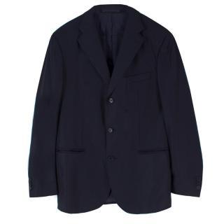 Boggi Navy Wool & Cashmere-blend Blazer