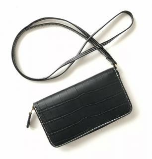 Stella McCartney Black Vegan Leather Textured Purse